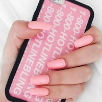 Wildflower Pink Late Night Hotline Bling iPhone 6/6S Case