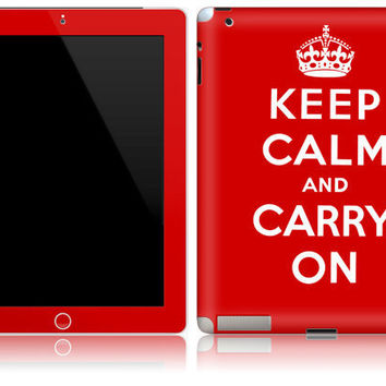 Apple iPad 1 2 Decal Skin Cover   Keep Calm and by stickitskins