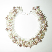 Chunky Bridal Pearl Necklace - Fine jewelry