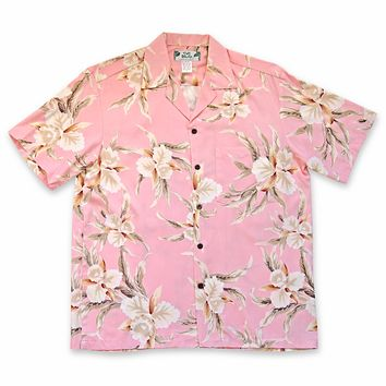Melon Pink Hawaiian Rayon Shirt