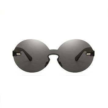 Lola Rimless Sunglasses | Black
