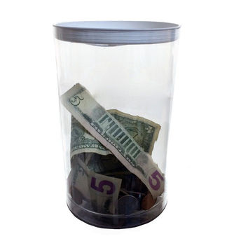 2 Large Charity Donation Container Tube Box for Fund-raising