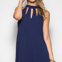 Stone Cold Dress - Navy