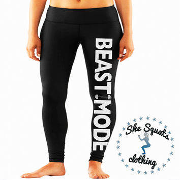 Beast Mode Performance Workout Leggings. from She Squats Clothing