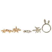 6pk Mixed Metal Ring Set - Multi