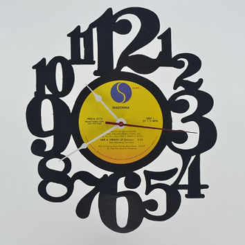 Vinyl Record Album Wall Clock (artist is Madonna)