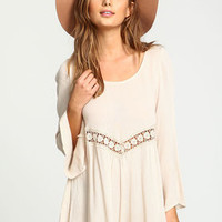Sand Crochet Scoopback Crepe Romper - LoveCulture
