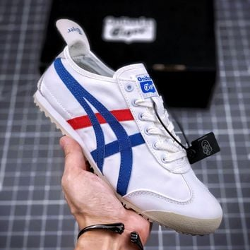 Kuyou Fa219721 Asics Onitsuka Tiger Mexico 66 Canvas Low-top Shoes