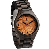 All Wood Watch // All Ebony Maple Burl