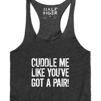 Cuddle Me-Female Heather Onyx Tank