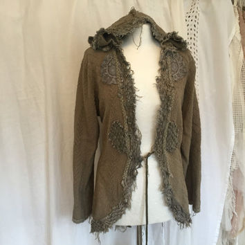 Unique jacket , Victorian hippie jacket , cotton,boho cotton jacket , elven unique clothing , gypsy luxe jacket,unique lagenlook jacket