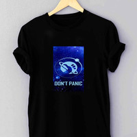 "Hitchhiker s Guide To The Galaxy Don t Panic - T Shirt for man shirt, woman shirt ""01"""