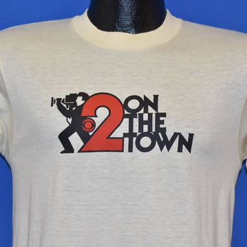 80s CBS 2 On The Town Camera Man t-shirt Small