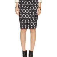 Kate Spade Dot Lace Pencil Skirt Ink