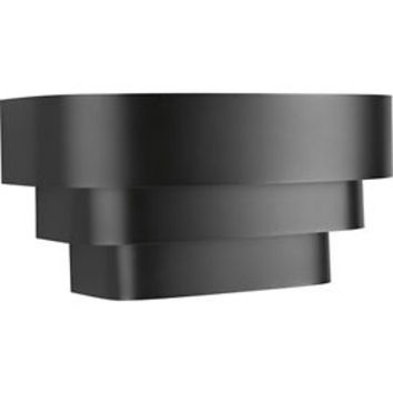 Progress Lighting Home Theater 1 Light Wall Sconce in Black P7103-31
