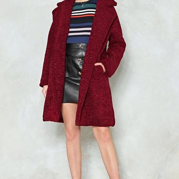 Cover Up Faux Shearling Coat