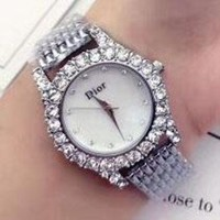 DCCKN6V DIOR Diamond Trending Watch Ladies Men Watch Little Ltaly Stylish Watch Sliver G-YF-GZYFBY