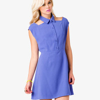 Cutout Shirt Dress