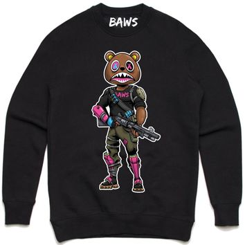 SWAT BAWS Black Crewneck Sweater