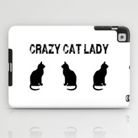 Crazy Cat Lady iPad Case by Ppolecho
