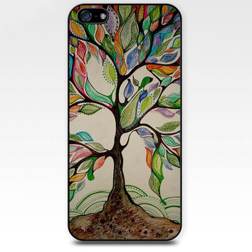 love trees life tree colorful watercolor iphone case,ipod case,samsung galaxy case available plastic and rubber case B006