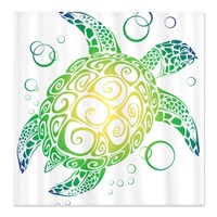 CafePress Sea Turtle Shower Curtain - Standard White
