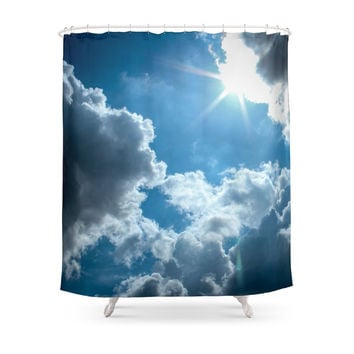 Society6 London Sky Shower Curtain