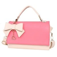 Sweet Elegant Detachable Bowknot Multi-used Bag