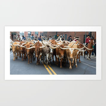 National Western Stock Show Parade Art Print by Lena Owens/OLenaArt