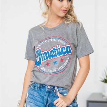 America Land Of The Free Tee