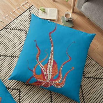 'Stitches: Octopus' Floor Pillow by VrijFormaat