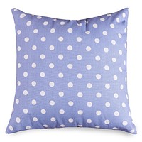 Lavender Polka Dots Large Pillow