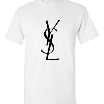 Yves Saint Laurent Logo White T-Shirt