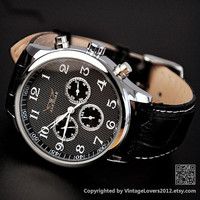 Black Leather Watch (WAT0104-BLACK)