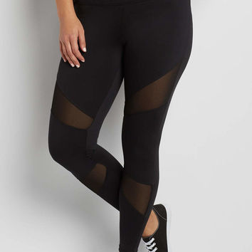 plus size legging with mesh inlay | maurices