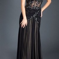 Black Label Couture 13 Corset Top Sheer Illusion Evening Gown Prom Dress