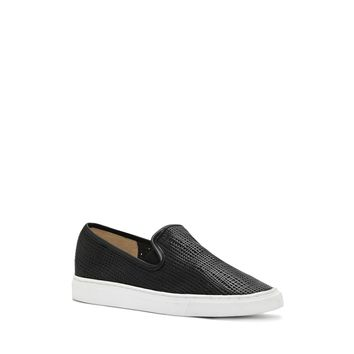 VINCE CAMUTO BECKER- CROSSHATCH SLIP ON SNEAKER