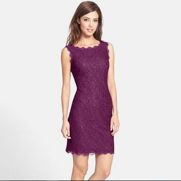 Robe De Cocktail New Custom Made Purple/Navy/Rose/Green Lace Mini Short Cocktail Dress Prom Party Dress