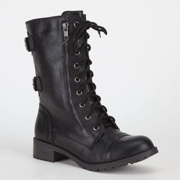 Soda Dome Womens Boots Black  In Sizes