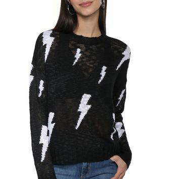 Sunday Stevens Lightning Bolt Sweater