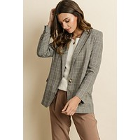 Office Chic Plaid Blazer