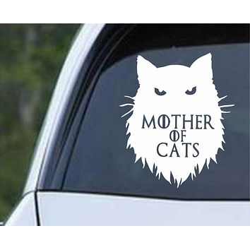 Game Of Thrones - Mother of Cats Die Cut Vinyl Decal Sticker