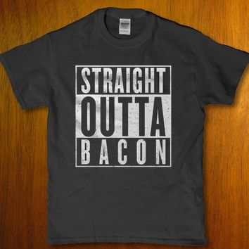 Straight outta bacon hilarious unisex adult t-shirt