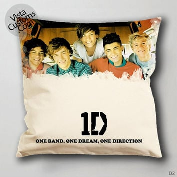 one band one dream one direction Pillow Case, Chusion Cover ( 1 or 2 Side Print With Size 16, 18, 20, 26, 30, 36 inch )