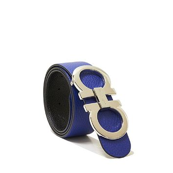 Salvatore Ferragamo Blue/Black Reversible Belt (100cm Waist 34-36)