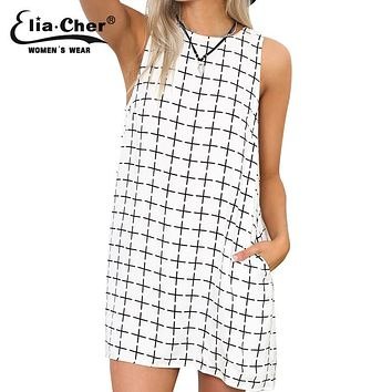 Summer style black and white dress   causal plus size women clothing chic elegant sexy fashion geometric print dresses