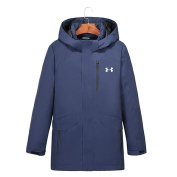 The North Face NEW outdoor Long Down jacket/black/blue/gray