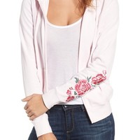 Juicy Couture Roberts Embroidered Velour Hoodie | Nordstrom