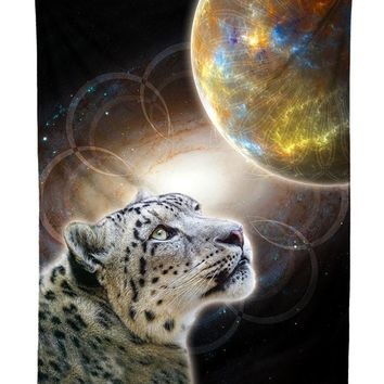 Sky Leopard Space Cat Galaxy Tapestry