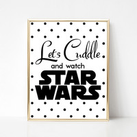 Cuddle and Watch Star Wars Polka Dot Print